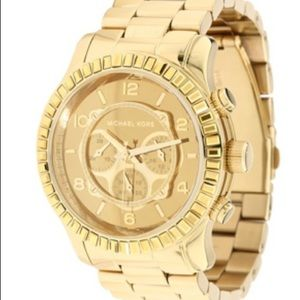 Michael Kors | Gold Watch Stud Lined Face